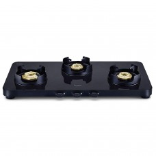 Prestige Edge Gas Stove Glass Top - Black PEBS 03 L